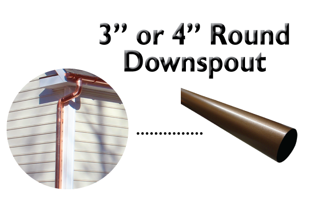 round downspouts Gutter Styles