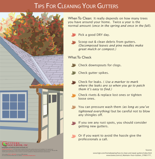 Tips For Cleaning Gutters
