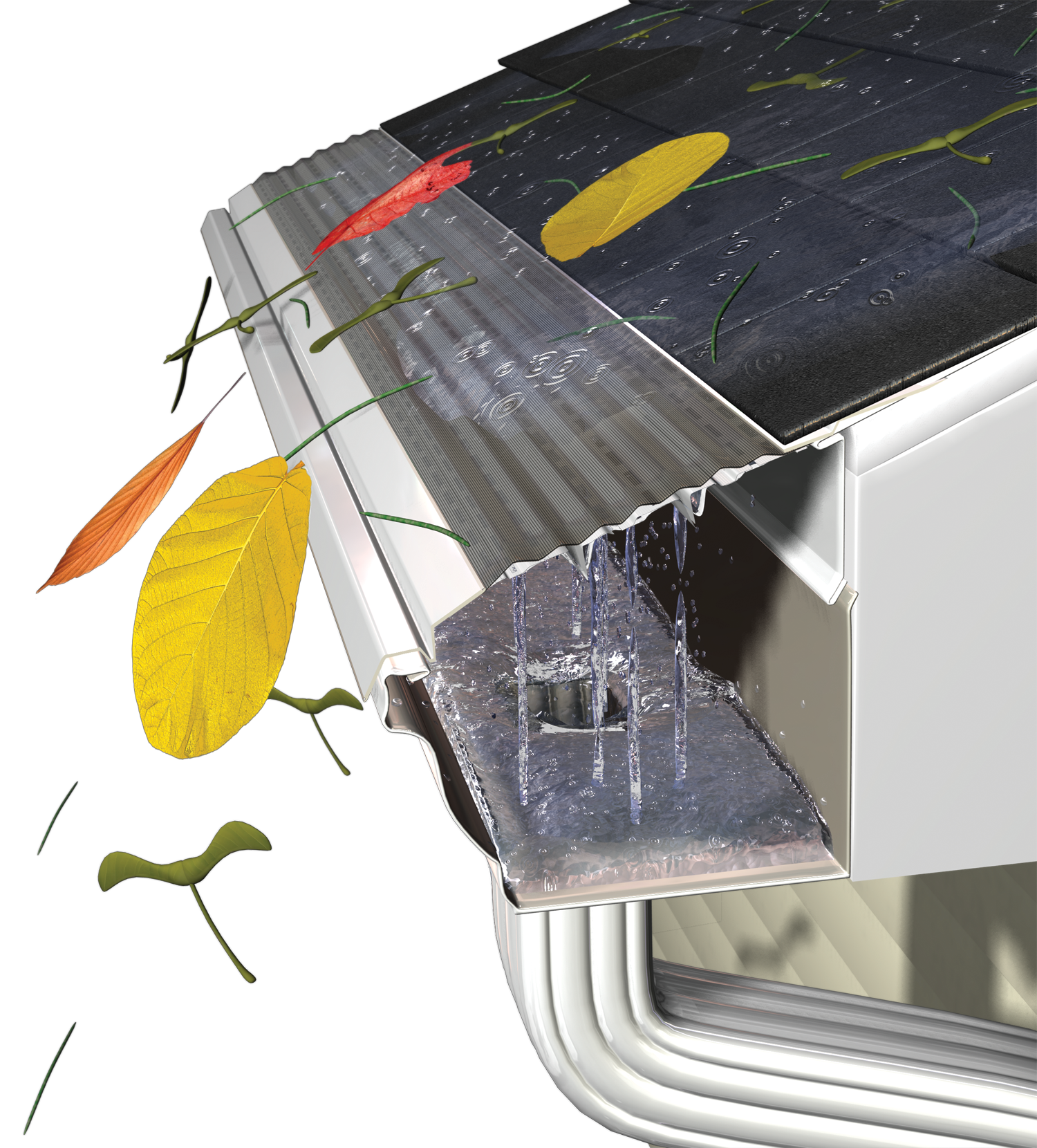 How do gutter guards work gutter guards gutters guards inc mastershield gutter guards solutioingenieria Gallery