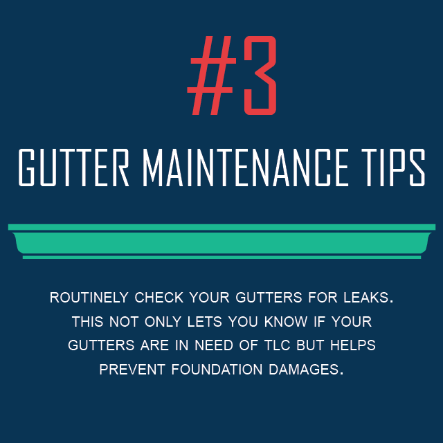 Gutter Maintenance Tips #3 - Look For Gutter Leaks