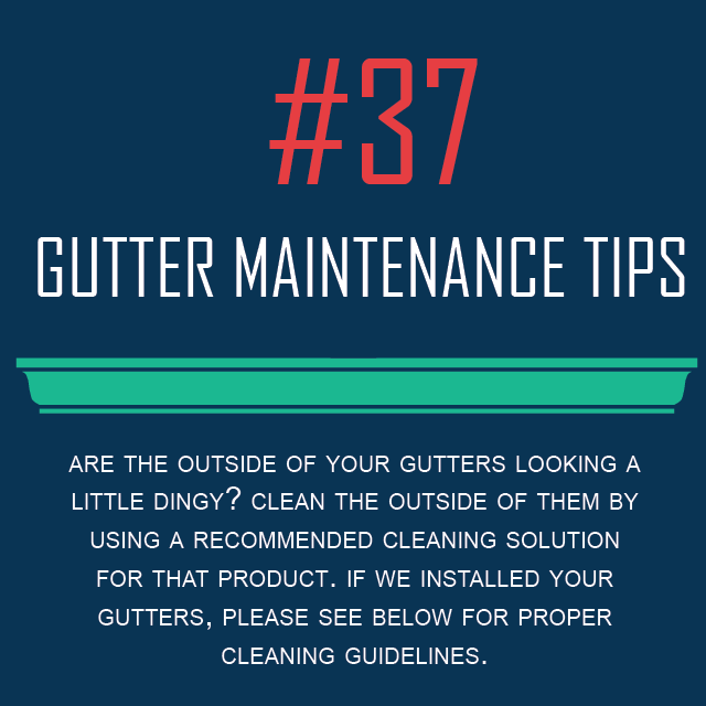 Exterior Gutter Cleaning Solution