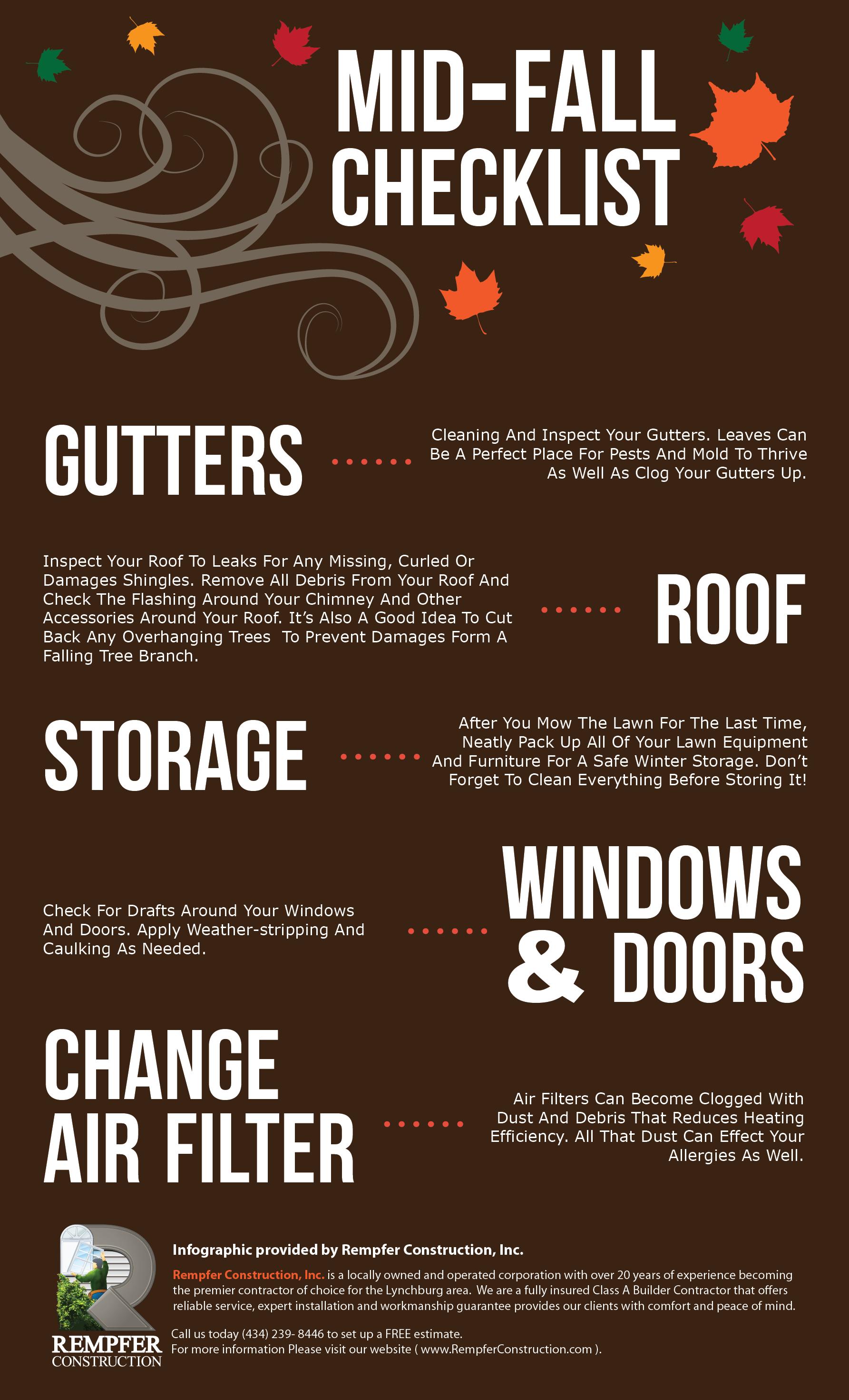 Mid Fall Checklist