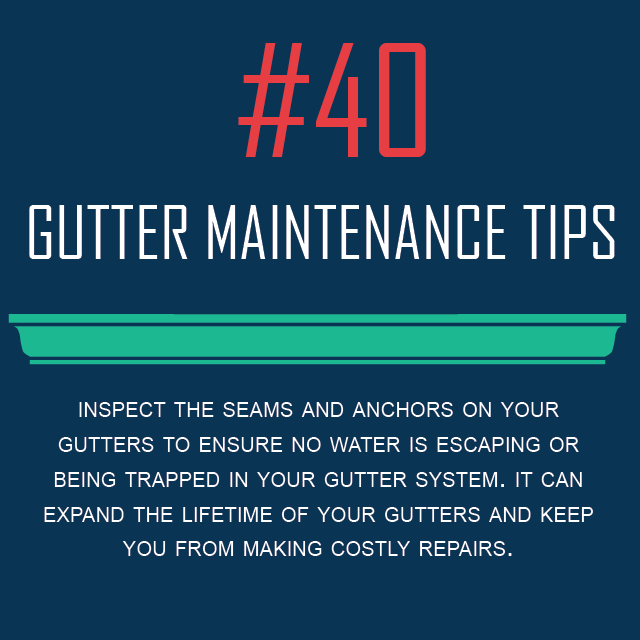 Gutter Maintenance Tip #40 - Inspect Seams And Anchors